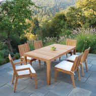 """Furniture Cover for Kingsley Bate Mendocino 72'-73"""" Rectangular Dining Table (MC72) with Four-Six Chairs"""
