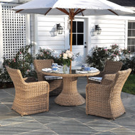 """Furniture Cover for Kingsley Bate Sag Harbor 59""""-60"""" Round Dining Table with Four-Six Chairs"""