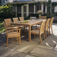 """Furniture Cover for Kingsley Bate Wainscott 72""""-73"""" Rectangular Dining Table (WS72) with Four-Six Chairs"""