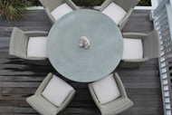 """Furniture Cover for Kingsley Bate Westport 50-52"""" Round Dining Table with Five-Six Chairs"""