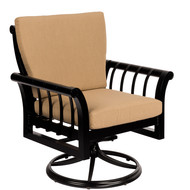 Woodard Rhyss Swivel Rocking Dining Arm Chair