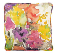 Woodard Square Throw Pillow with Button