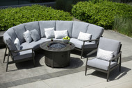 The photo is of a four piece sectional, adding a second curved corner unit.