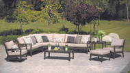 Consists of a Left Arm Love Seat, a Right Arm Love Seat, an Armless Chair and a Curved Corner Unit. Other pictured items sold separately.