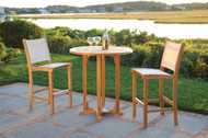 "Consists of a 37"" Round Essex High Dining Table and two St. Tropez Armless High Dining Chairs(pictured in Sand)."