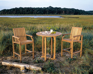 """Consists of a 36"""" Essex High Dining Table and two Nantucket High Dining Chairs. Optional chair cushions sold separately."""