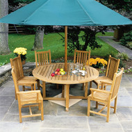"Consists of one Essex 60"" Round Dining Table, two Classic Arm Chairs and four Classic Side Chairs."