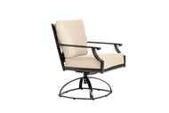Brown Jordan Coast Cushion Swivel Rocking Dining Chair