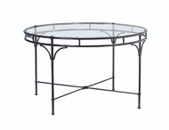 "Brown Jordan Florentine  48"" Round Glass Dining Table"