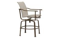 Brown Jordan Fremont Sling Swivel Bar Chair