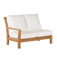 Kingsley Bate Chelsea Outdoor Teak Sectional Left Arm (Facing) Love Seat