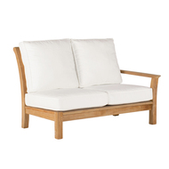 Kingsley Bate Chelsea Outdoor Teak Sectional Right Arm (Facing) Love Seat