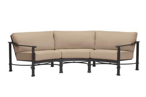 Brown Jordan Fremont Cushion Curved Sofa
