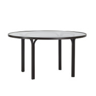 "Brown Jordan Kantan 42"" Round Glass Top Chat Table"