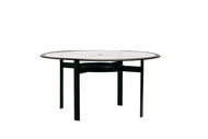 "Brown Jordan Parkway 54"" Round Glass Top Dining Table"