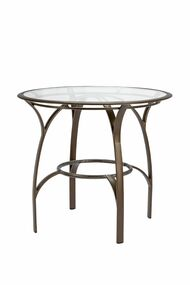 "Brown Jordan Pasadena 42"" Round Balcony Table w/Glass Top"