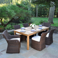 """Consists of an 85"""" Wainscott Rectangular 85"""" Dining Table, two Sag Harbor Arm Chairs and two Sag Harbor Side Chairs"""