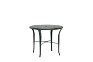 "Brown Jordan Calcutta 36"" Round Cast Top Chat Table"