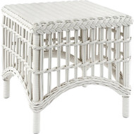 Kingsley Bate Chatham Classic Wicker Side Table in White
