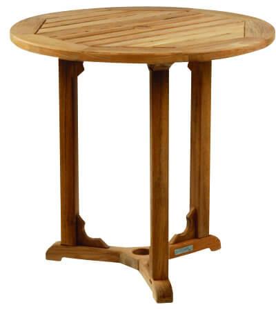 Kingsley Bate Essex 30 Round Teak Outdoor Dining Table