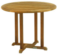 "Kingsley Bate Essex Teak 36"" Round Dining Table"
