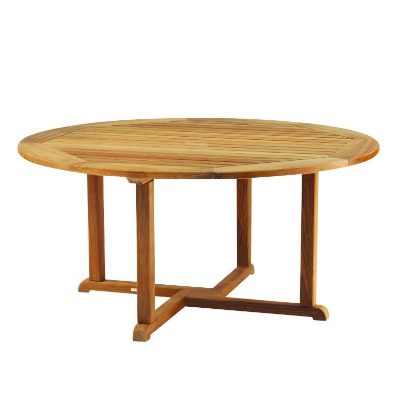 Cool Kingsley Bate Essex Teak 42 Round Dining Table Uwap Interior Chair Design Uwaporg