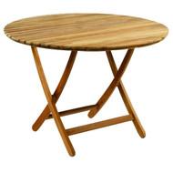 "Kingsley Bate Newport - 42"" Round Outdoor Teak Dining Table"