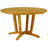 "Kingsley Bate Amalfi 50"" Round Teak Outdoor Dining Table"