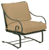 Woodard Sheffield Wrought Iron Spring Lounge Chair