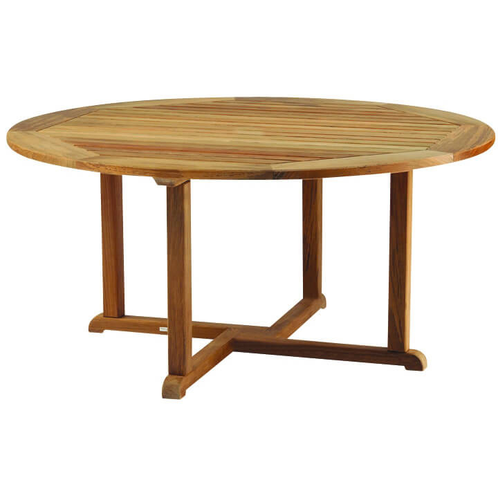 Kingsley Bate Essex Teak 60 Round Dining Table Into The Garden