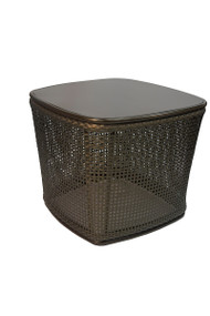 "Brown Jordan Cove 18"" Square Woven Table"