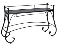Woodard Iron Solid Top Console Table