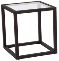 Woodard Salona Glass Top Side Table