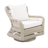Kingsley Bate Southampton Wicker  Swivel Rocking Lounge Chair