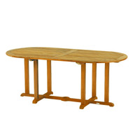 "Kingsley Bate Essex Teak 72"" Oval Dining Table"