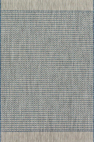 Isle Collection Teal/Grey Rug