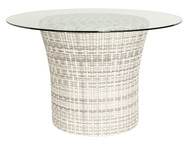 "Woodard Sonoma 48"" Glass Top Dining Table"