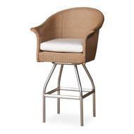 Lloyd Flanders All Seasons Cushioned Swivel Bar Stool