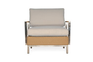 Lloyd Flanders Elements Lounge Chair with Stainless Steel Arms & Back