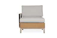 Lloyd Flanders Elements Woven Right Arm Sectional Lounge Chair with Stainless Steel Arms & Back