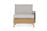 Lloyd Flanders Elements Woven  Left Arm Sectional Lounge Chair with Stainless Steel Arms & Back