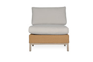 Lloyd Flanders Elements Woven Armless Sectional Lounge Chair with Stainless Steel Back