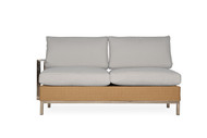 Lloyd Flanders Elements Right Arm Sectional Settee with Stainless Steel Arms & Back