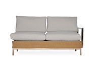 Lloyd Flanders Elements Left Arm Sectional Settee with Stainless Steel Arms & Back
