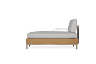 Lloyd Flanders Elements Woven Sectional Right Arm Chaise with Stainless Steel Arms & Back