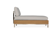 Lloyd Flanders Elements Woven Sectional Armless Chaise with Stainless Steel  Back