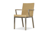 Lloyd Flanders Woven Elements Dining Armchair