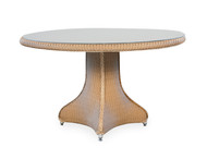 "Lloyd Flanders Universal 48""Round Dining Table with Glass Top"