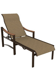 Tropitone Brazo Sling Chaise Lounge with Arms