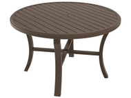 "Tropitone Banchetto 48"" Round Dining Table with Umbrella Hole"